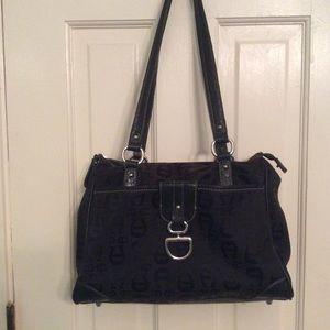 Women Etienne Aigner Brown purse shoulder bag  szL